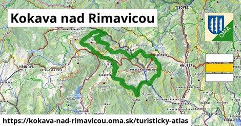 ikona Kokava nad Rimavicou: 30km trás turisticky-atlas  kokava-nad-rimavicou