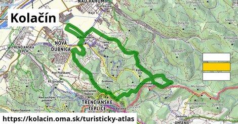 ikona Kolačín: 10,4km trás turisticky-atlas  kolacin