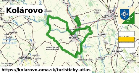ikona Kolárovo: 19km trás turisticky-atlas  kolarovo