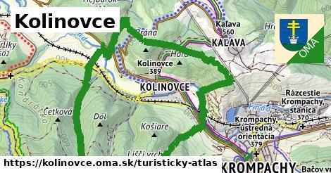 ikona Turistická mapa turisticky-atlas v kolinovce