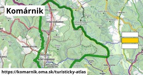 ikona Turistická mapa turisticky-atlas  komarnik