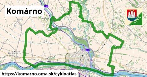 ikona Komárno: 52km trás cykloatlas  komarno