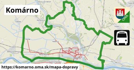 ikona Komárno: 410km trás mapa-dopravy  komarno