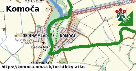 ikona Komoča: 449m trás turisticky-atlas  komoca