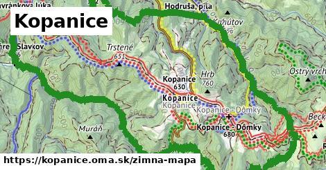 ikona Kopanice: 2,2km trás zimna-mapa v kopanice