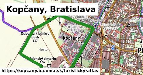 ikona Kopčany, Bratislava: 0m trás turisticky-atlas v kopcany.ba