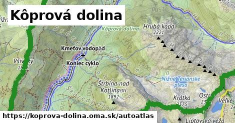 ikona Mapa autoatlas  koprova-dolina