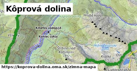 ikona Kôprová dolina: 5,0km trás zimna-mapa  koprova-dolina