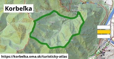 ikona Turistická mapa turisticky-atlas  korbelka