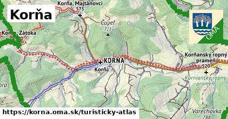 ikona Turistická mapa turisticky-atlas  korna