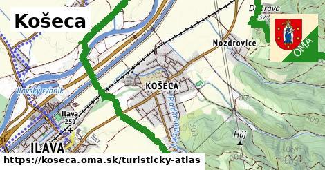ikona Turistická mapa turisticky-atlas  koseca