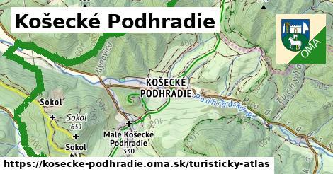 ikona Košecké Podhradie: 22km trás turisticky-atlas  kosecke-podhradie