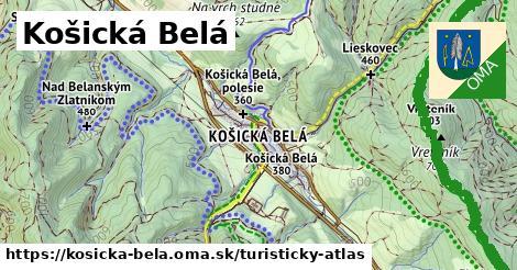 ikona Turistická mapa turisticky-atlas  kosicka-bela