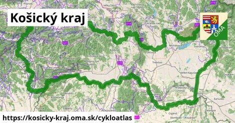 ikona Košický kraj: 1677km trás cykloatlas  kosicky-kraj