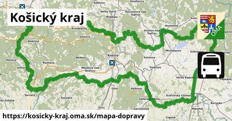 ikona Košický kraj: 2657km trás mapa-dopravy  kosicky-kraj