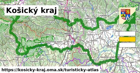 ikona Košický kraj: 3173km trás turisticky-atlas  kosicky-kraj