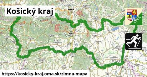 ikona Košický kraj: 342km trás zimna-mapa  kosicky-kraj