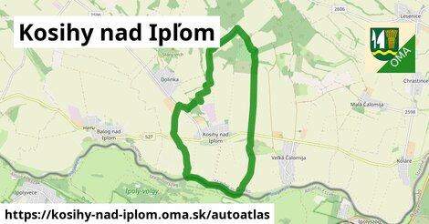 ikona Mapa autoatlas  kosihy-nad-iplom