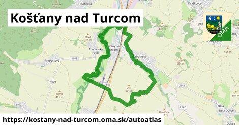 ikona Mapa autoatlas  kostany-nad-turcom