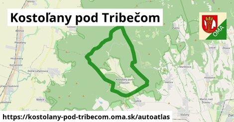 ikona Mapa autoatlas  kostolany-pod-tribecom