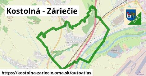 ikona Mapa autoatlas  kostolna-zariecie