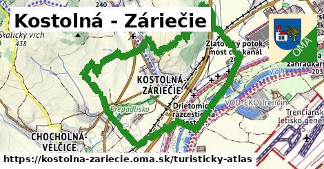 ikona Turistická mapa turisticky-atlas  kostolna-zariecie