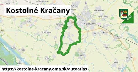 ikona Mapa autoatlas  kostolne-kracany
