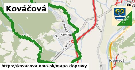 ikona Mapa dopravy mapa-dopravy v kovacova