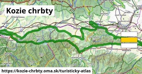 ikona Turistická mapa turisticky-atlas  kozie-chrbty