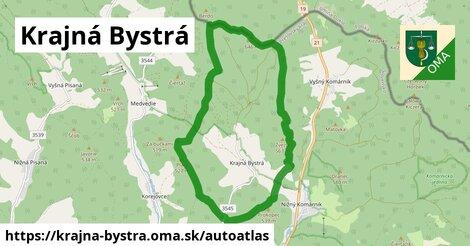 ikona Mapa autoatlas  krajna-bystra