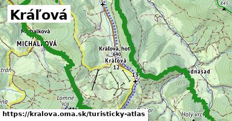 ikona Kráľová: 6,8km trás turisticky-atlas  kralova