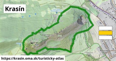 ikona Turistická mapa turisticky-atlas  krasin