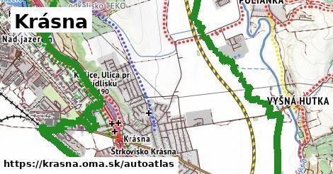 ikona Mapa autoatlas  krasna
