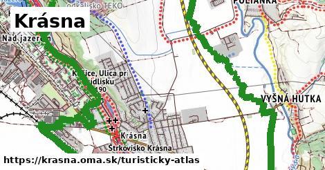 ikona Krásna: 3,7km trás turisticky-atlas  krasna