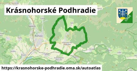 ikona Mapa autoatlas  krasnohorske-podhradie