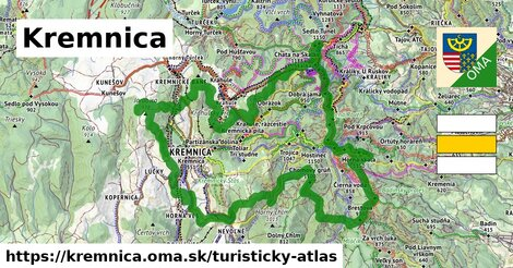 ikona Kremnica: 72km trás turisticky-atlas  kremnica
