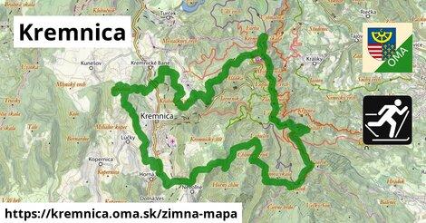 ikona Kremnica: 70km trás zimna-mapa  kremnica