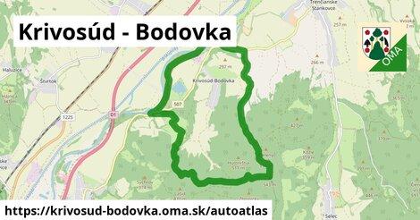 ikona Mapa autoatlas  krivosud-bodovka