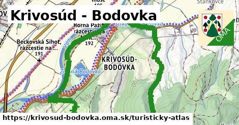 ikona Turistická mapa turisticky-atlas  krivosud-bodovka