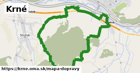 ikona Krné: 1,58km trás mapa-dopravy v krne
