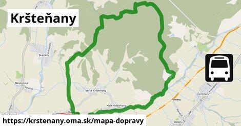 ikona Kršteňany: 1,20km trás mapa-dopravy  krstenany