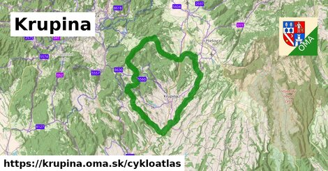 ikona Krupina: 34km trás cykloatlas  krupina