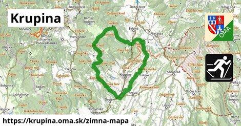 ikona Krupina: 7,6km trás zimna-mapa  krupina