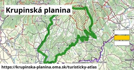ikona Turistická mapa turisticky-atlas  krupinska-planina