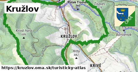 ikona Turistická mapa turisticky-atlas  kruzlov