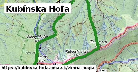 ikona Kubínska Hoľa: 2,6km trás zimna-mapa  kubinska-hola