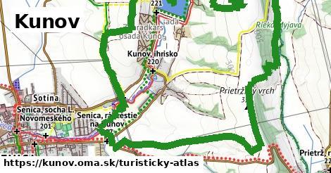 ikona Kunov: 11,3km trás turisticky-atlas v kunov