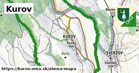 ikona Kurov: 5,1km trás zimna-mapa  kurov