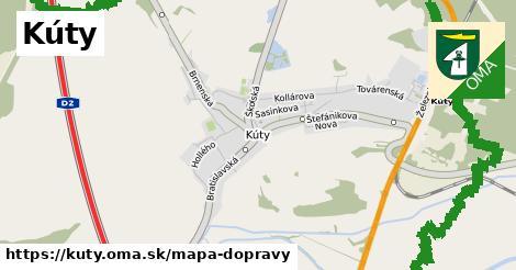 ikona Kúty: 26km trás mapa-dopravy  kuty