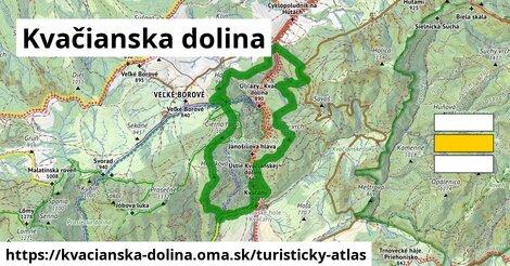ikona Turistická mapa turisticky-atlas  kvacianska-dolina